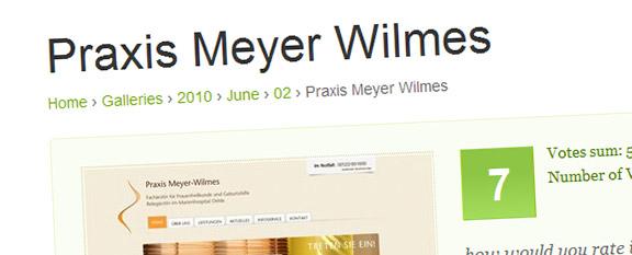 Meyer-Wilmes Webseite bei CSSMania