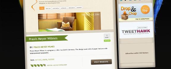 Meyer-Wilmes Webseite bei CSSNature