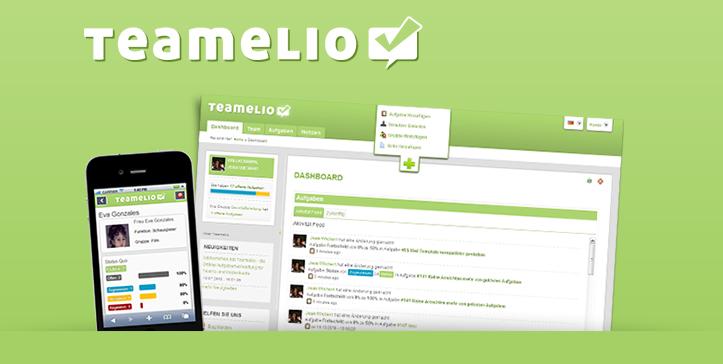 Eine mobile Version von teamelio für Smartphones gibt es ebenfalls.
