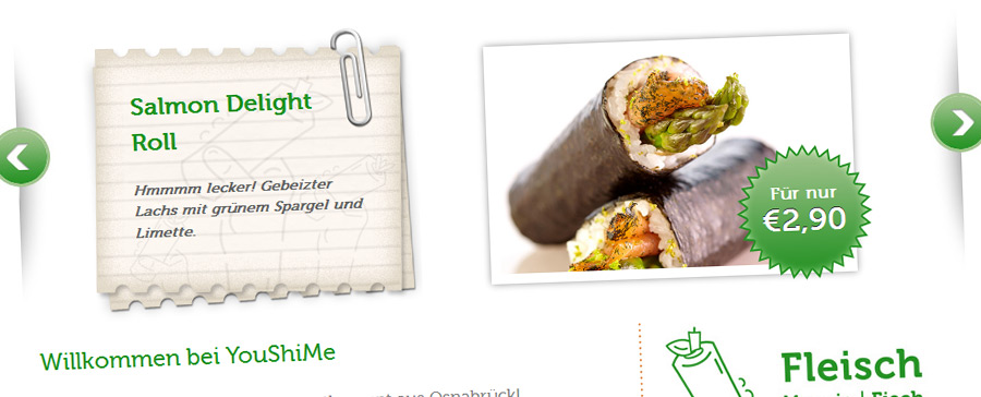 Wordpress für YouShiMe – Your Taste, Your Roll
