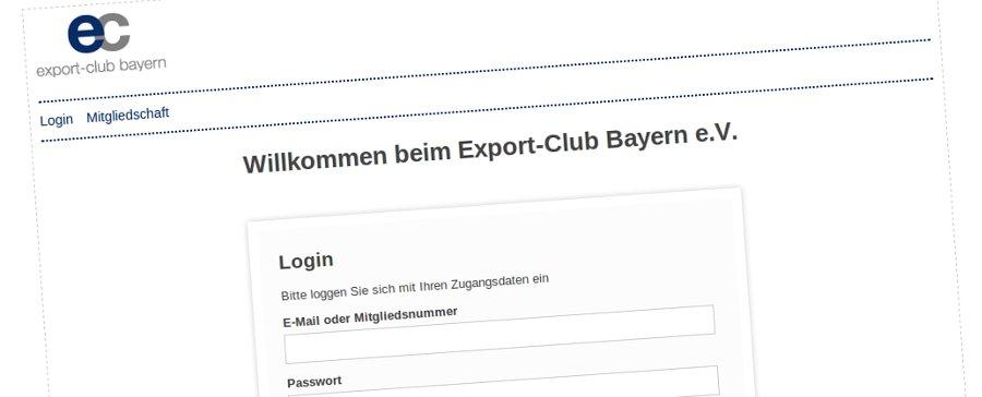 Online Business Netzwerk für Export-Club Bayern