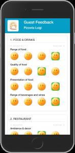 Feedback von Kunden über mobile Webseite von Guestify